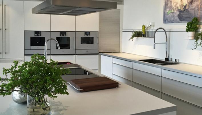 Witte betonlook keuken | Satink Keukens
