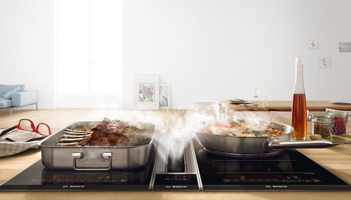 Bosch kookplaat met geïntegreerde afzuiging | Satink Keukens