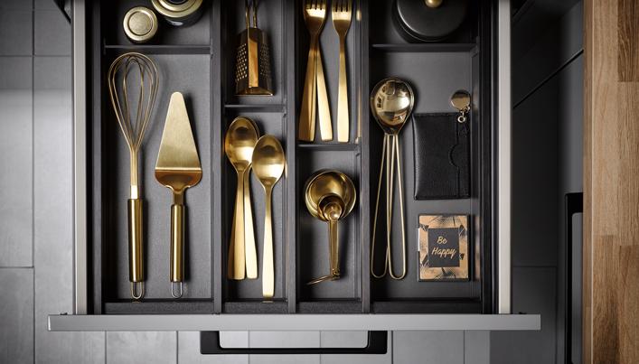 Gouden keukenelementen   Satink Keukens