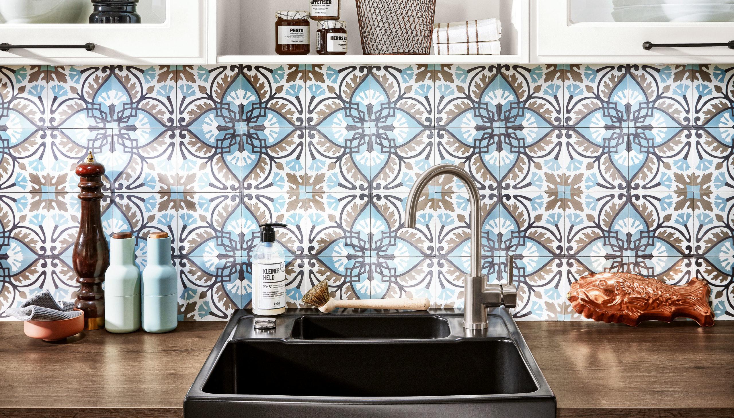 Keukenwand met Portugese tegels | Satink Keukens