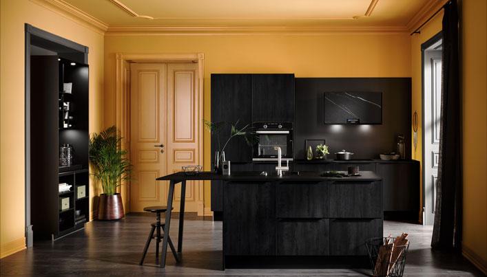 Zwarte Häcker Classic keuken | Satink Keukens